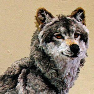狼-以毛根(類扭管刷)型塑而成