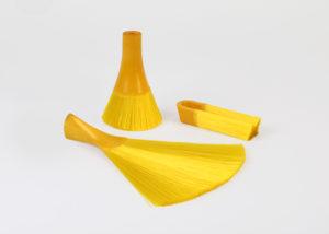 黃色毛刷一體成型